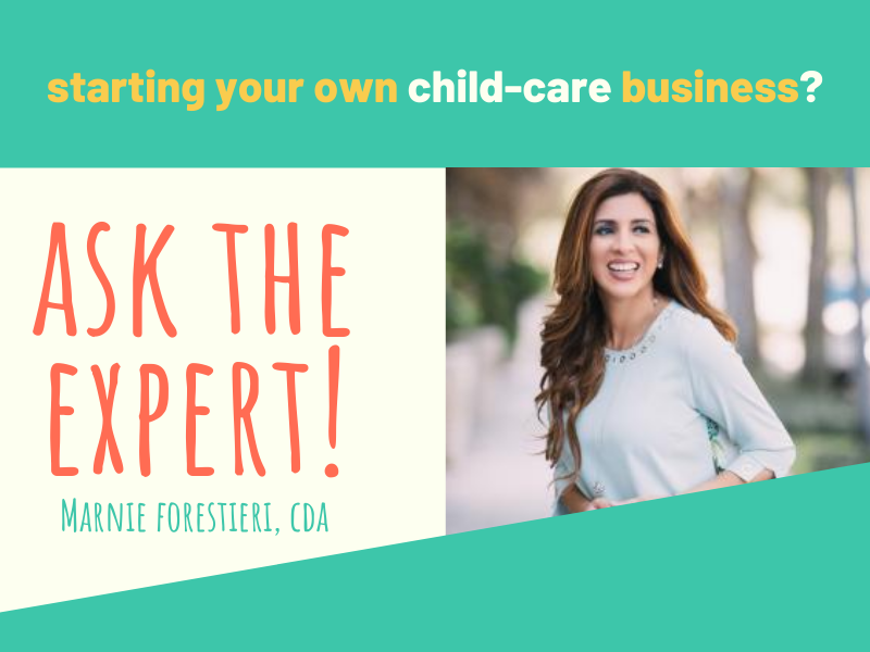 Large starting your own child-care business