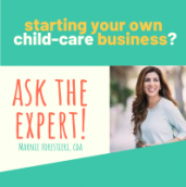 Small starting your own child-care business
