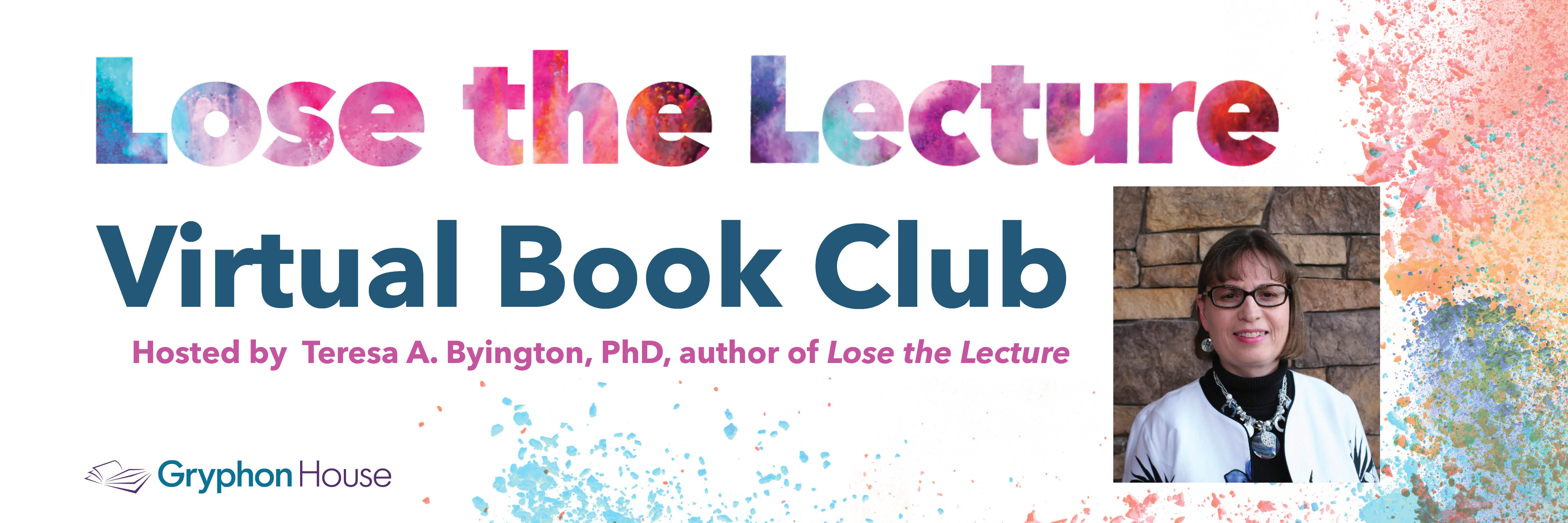 Book club landing page headline banner - 1200x400px lose the lecture