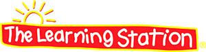 Learning station logo red yellow